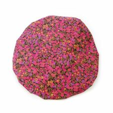 Luxury Liberty Fabric Shower Cap With Satin Detailing Design Wiltshire Purple