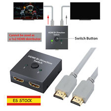 HDMI Switch Bidireccional 2 Entradas a 1 Salida o Switch 1 in a 2 out 4K 1080P
