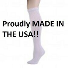 12 Pair of White Over The Calf Diabetic Socks Size 10-13 Over Calf Diabetic Sock