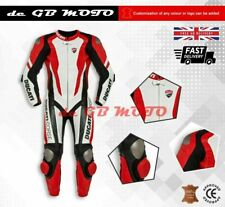 Brand New DUCATI Corse 1 Piece Motorbike Racing Leather Suit CE Approved Armour