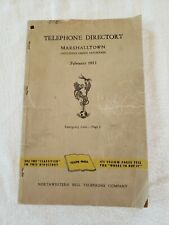 1953 Marshalltown IOWA Telephone Book Directory Northwestern Bell Yellow Pages