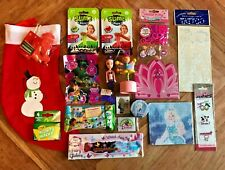 Pre Filled Girl's Christmas Stocking ~ Toys ~ Stickers ~ Slime Kit ~ 17 items