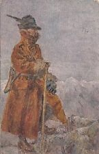 A048) WW1, ALPINO DI VEDETTA TRA I MONTI. VIAGGIATA.