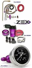 ZEX Nitrous Remote Bottle Valve Opener, Liquid Filled Gauge & Purge Kit Combo