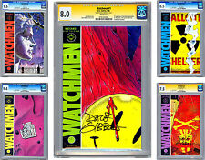 WATCHMEN #1-12 CGC VF-NM *3 ISSUES #1 #5 #11 SIGNED BY ARTIST DAVE GIBBONS* 1986