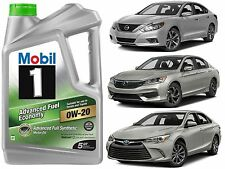 5Qt Mobil 1 0W-20 Advanced Fuel Economy Full Synthetic Motor Oil New Free Ship