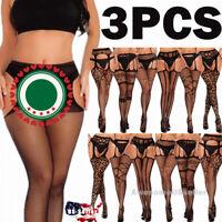 3 Women Pantyhose Socks Tights Stockings Opaque Sheer Hosiery Hose Plus Size USA