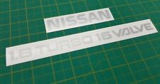 Nissan Silvia S13 Rear Decals Stickers 200SX 1.8 Turbo 16 Valve