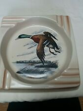 Vintage Pheasant Ashtraybt Baker China In Trenton NJ