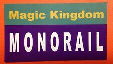 "Walt Disney World Sign Inspired Magnet 2"" X 3.5"" Magic Kingdom Monorail"