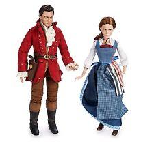 DisneyStore Beauty and the Beast Live Action Doll Set Gaston & Belle Emma Watson