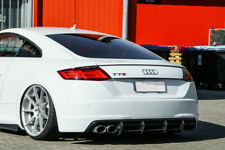 For Audi TTS 8S Rear Bumper Diffuser with ribs / fins Valance Skirt Trim apron