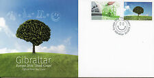 Gibraltar 2016 FDC Europa Think Green 2v Set Cover Bicycles Trees Stamps