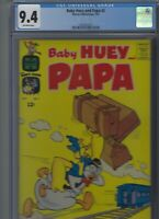 Baby Huey and Papa #2 Harvey 1962 CGC 9.4  Off-white pages!