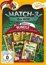 Match 3 6er Box Vol. 1 Sunrise Games PC Spiel Neu & OVP