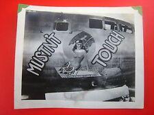 ORIGINAL WW2 PHOTO...NOSE ART ...' B-29 Musn't Touch '......# 529-104....5x4