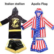 Trick or Treat  Kid Rocky Balboa Apollo Boxing Italian Stallion Costume Robe Boy
