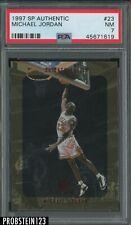 1997 SP Authentic #23 Michael Jordan Chicago Bulls HOF PSA 7 NM