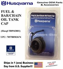 580943801 OEM NEW HUSQVARNA FUEL & BAR/CHAIN OIL TANK CAP 580 94 38-01
