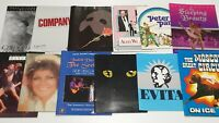 12x MUSICAL THEATRE Stage Shows and Play Programs Bulk Lot Vintage Australia