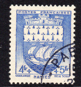 France 4f + 5f Stamp c1942 Used (130a)