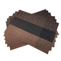 Coffee PVC Placemats Washable Vinyl Placemats for Kitchen Table Mats 6pcs/set