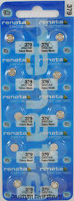 10 pc 379 Renata Watch Batteries SR521SW FREE SHIP 0% MERCURY