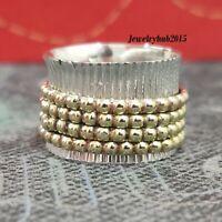 Solid 925 Sterling Silver Spinner Ring Meditation Ring Handmade Ring Size SR928