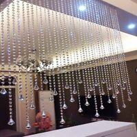 16FT Acrylic Crystal Bead Chandelier Garland Hanging Wedding Curtain DIY #US