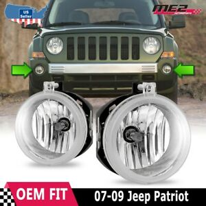 For Jeep Patriot 07-09 Factory Bumper Replacement Fit Fog Lights Clear Lens