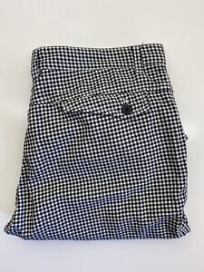 Polo Ralph Lauren Mens Chino Shorts Size 38 Mid Length Black White Check Adult