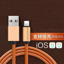 Cuero Lightning Cable Del Cargador Código LINE PARA IPHONE 6 6s 7 Plus Samsung