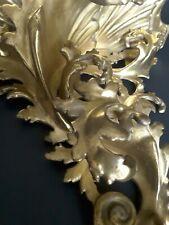 Mensola Antica Legno Intagliato Foglia Oro