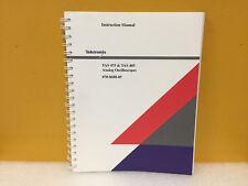 Tektronix 070 8688 05 Tas475 Tas485 Analog Oscilloscopes Instuction Manual