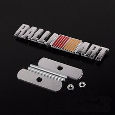 3D Metal RALLI ART Emblem Logo Front Grille Badge Ralliart For Mitsubishi Lancer