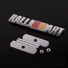 3D Metal RALLI ART Emblem Logo Front Grille Badge Ralliart For Mitsubishi Lancer
