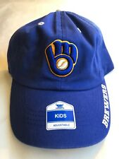 a33ff294804ba New Milwaukee Brewers One Size Fits All YOUTH Baseball Hat