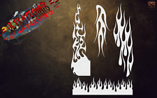 BK STANDARD FLAMES F1 AIR BRUSH STENCIL AIRBRUSH STENCIL TEMPLATE