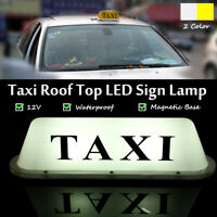 12V Taxi Roof Dome Sign Magnetic Base Taximeter Cab Top White Light Universal