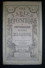 THE LADIES' REPOSITORY Universalist Monthly Magazine, APRIL 1864 Caroline Sawyer
