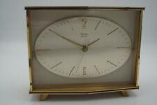 50er Vintage Tischuhr Uhr Diehl Electro Messing Mid-Century Kaminuhr 60er
