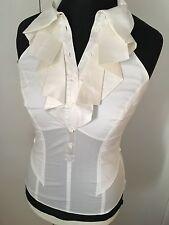 Karen Millen Ladies BNWT Blouse White Top Silk Ruffle UK 12