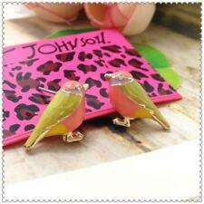 Beautiful~ Betsey Johnson  Rhinestone Multicolor bird  Earrings $5.99