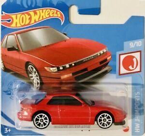 Hot Wheels Nissan Silvia (S13) Red 2021 New Release M Box Short Card