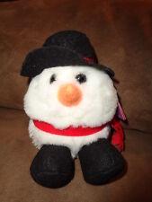 "Snowman Puffkins Christmas Flurry 1994 Swibco 5"" Stuffed Plush Fat bean bag"
