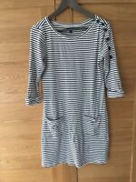 GAP Ladies Nautical 100% Cotton Stretch Navy Nautical Navy Stripe Dress UK12