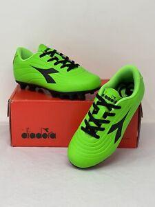 Diadora Pichichi 2 MDPU JR Youth Size 12 Soccer Cleat Green Fluo/Black - NIB
