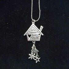 """NEW Pewter """"Protect Our Family"""" Car Charm"""