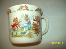 "Royal Doulton BUNNYKINS Mug Cup RARE ""BURN HER AT THE STAKE"" INDIAN COWBOY UK"