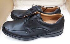 """Clarks """"Scopic Way"""" homme Smart en Cuir à Lacets Chaussures-Noir-UK 9 H (Large) Fit"""